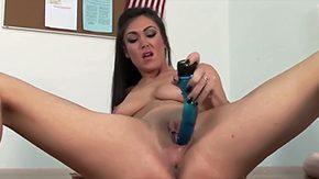 Victoria Love, Amateur, Desk, Dildo, Fingering, Grinding