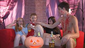 HD Halloween tube Halloween home sex mass