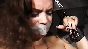 Dungeon, Blowjob, Brunette, Fucking, Hardcore, Interracial