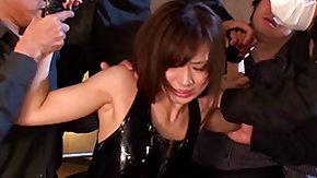 Free Saki Kouzai HD porn Saki Kouzai kinky Korean babe in latex fucked in variety sex