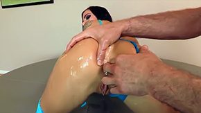 Free Jordan Blue HD porn videos Dude Jordan Ash comes by his hands on risque brown eye hole tanned brunette Juelz Ventura in her blue strap heels oils her ass fingers her brown eye hole hole in the middle of well in the middle of her taco on