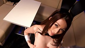 Chinese, Asian, Blowjob, Brunette, Bunny, Fucking