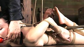 Hogtied, BDSM, Brunette, Fetish, French Teen, High Definition
