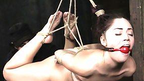 Hogtied, BDSM, Brunette, Choking, Clit, Clitoris
