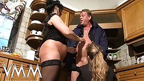 Wive, 3some, Blonde, Blowjob, Brunette, Cumshot
