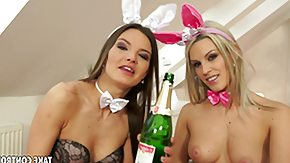 Suzie Carina, BDSM, Blonde, Boobs, Brunette, Bunny