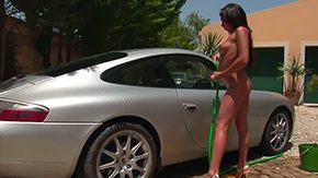 Car Wash, Amateur, Banana, Car, Dildo, Fingering