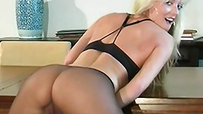 Pantyhose Solo, Babe, Blonde, Erotic, Grinding, Masturbation
