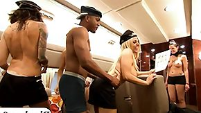 Free Stewardess HD porn videos Huge boobs tattooed flight attendants teasing with guys