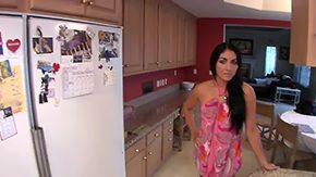 Free Kimberly Kasanova HD porn Latin babe Kimberly Kasanova checks fridge for snack but comes to a conclusion that one thing she would get a kick out of in her mouth is her boyfriends wooden dick so she goes to
