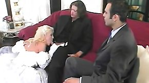 Bride, 3some, Babe, Blonde, Blowjob, Bride
