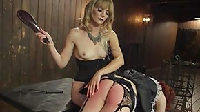 Spanking HD tube pansy maid gets the paddle