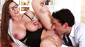 Free Secretary HD porn Secretary Brooklyn Chase gets bigtits jizzed