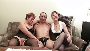 German Orgy, 3some, Amateur, Blowjob, Brunette, German