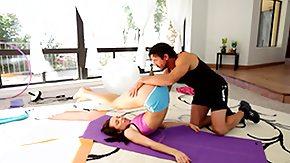 Yoga, Babe, Blowjob, Brunette, Fitness, Flexible