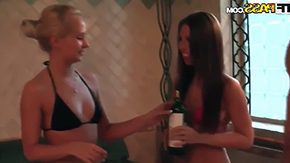 Sauna, 4some, Allure, Amateur, Blowjob, Boobs