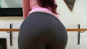 Spandex, Aerobics, Ass, Aunt, Babe, Bend Over