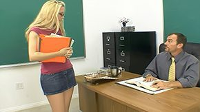 Student, Blonde, Blowjob, Boobs, Bookworm, Classroom