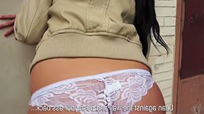 Free Tea Key HD porn videos Brunette with centerfold benefit figure very long shaded complexion hair named Tea Key was pick uped fucked outdoor in the midst of chest of amateur