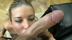 Heels, Ball Licking, Big Cock, Blowjob, Choking, Cumshot
