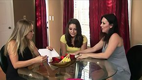 Dyanna Lauren HD porn tube Dyanna Lauren RayVeness their friend sit over table discussing some important issues But sluts pussies think once in a lifetime about lesbo lovemaking Licking is what they