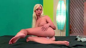 Pamela Blond, Blonde, Fingering, Hairless, High Definition, Masturbation