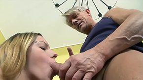 Father in Law, Aged, Babe, Ball Licking, Blowjob, Dad