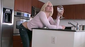 Kitchen, Babe, Blonde, Blowjob, Cute, Fucking