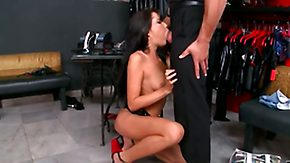 Tanner Mayes, Babe, Ball Licking, Blowjob, Brunette, Choking