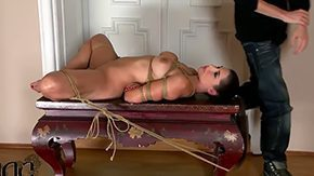 Bondage, Adorable, Babe, Banging, Bed, Bend Over