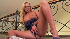 Solo Blonde, Big Cock, Big Pussy, Big Tits, Blonde, Blowjob