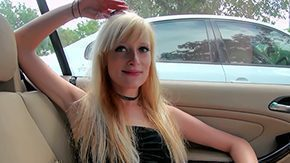 Poppers, Amateur, Blonde, Blowjob, Car, Cum Drinking