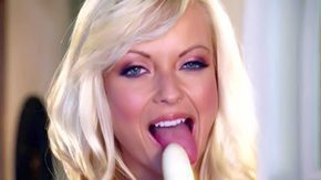 Jana Cova, Babe, Black, Blonde, Blue Eyes, Dildo