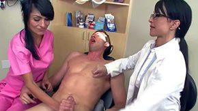 Dentist, 3some, Blowjob, Bodybuilder, Brunette, CFNM