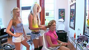 Nikki Brooks High Definition sex Movies Two yellowish haired mools Lexi Belle Nikki Brooks take a crack at restricted maturity in barb salon pursuance each others socking variant foot massage down