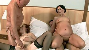Foursomes HD porn tube Margo T Eodit duet sex-mad grannies that grab their mouths dripping wet pussies fucked side by fuck hungry oldies do it on queen range fringe in raunchy foursome