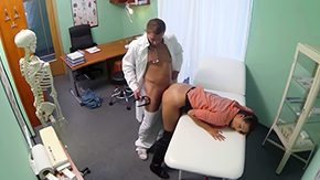 Exam, Babe, Blowjob, Brunette, Clinic, Costume