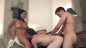 Bisex High Definition sex Movies Brunette tanned Ariel Avon with big juicy juggs pierced nipps collects her epilated moist minge licked boned unexplainable by 2 randy bisex lads in freaky