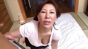 Mature, Asian, Asian Granny, Asian Mature, Blowjob, Brunette