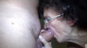 Grannies, Babysitter, Blowjob, Brunette, Experienced, Glasses