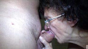 Grannie, Babysitter, Blowjob, Brunette, Experienced, Glasses