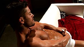 Muscle, Bodybuilder, Masturbation, Muscle, Oil