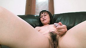 Sofa, Asian, Asian Granny, Asian Mature, Brunette, Cunt