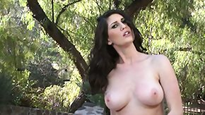 Outdoor, Big Tits, Boobs, Brunette, Forest, Hairless