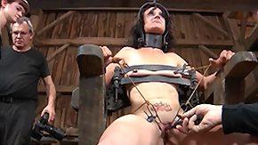 Barn, BDSM, Bondage, Boobs, Bound, Brunette