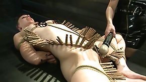 Nipple Clamp, BDSM, Bondage, Bound, Brunette, Goddess