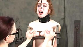 Slave, BDSM, Bondage, Boobs, Bound, Brunette
