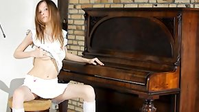 Piano, Anorexic, Boobs, Flat Chested, Naughty, Piano