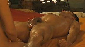 Prostat, Big Ass, Big Cock, Brunette, Girl Fucks Guy, Handjob