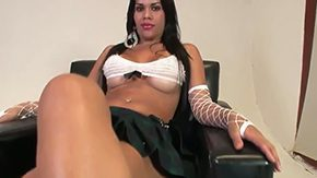 Labelly Sandorram HD porn tube Brunette Transvestit Labelly Sandorram takes off her underskirt to show her big boobs at casting starts onliest masturbation when Stephany